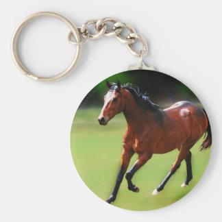 Um canter dos cavalos chaveiro