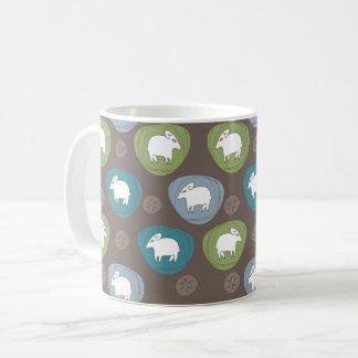 Um carneiro nos ovals caneca de café