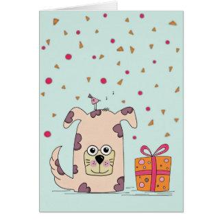 Um cartão bonito do feliz aniversario