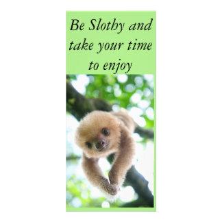 Um cartão da preguiça