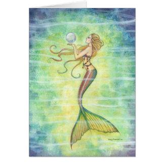 Um cartão da sereia da bolha