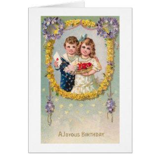 Um cartão de aniversário feliz do Victorian