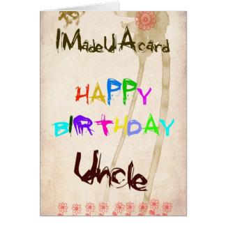 Um cartão de aniversário para o tio