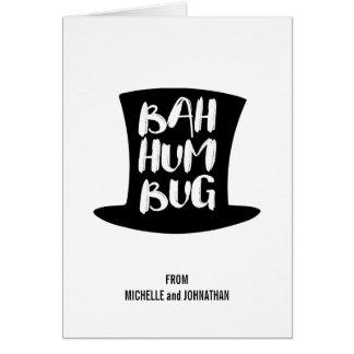 Um cartão de cartões de natal da farsa de Bah da
