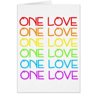 Um cartão de cumprimentos do orgulho do arco-íris