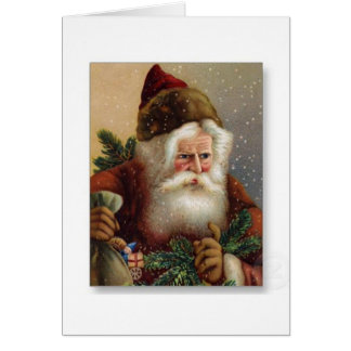 Um cartão de Natal alemão do papai noel do vintage