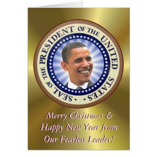 Um cartão de Natal do presidente Obama