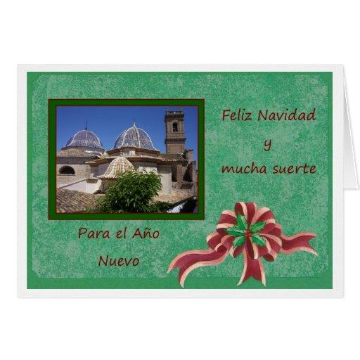 Um cartão de Natal espanhol Feliz Navidad