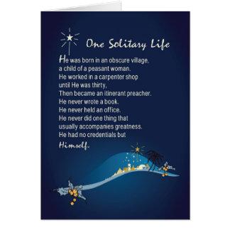 Um cartão de Natal religioso Bl escuro da vida
