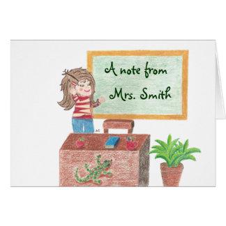 Um cartão de nota personalizado do professor