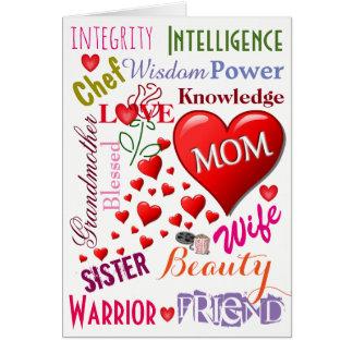 Um cartão do amor do dia das mães