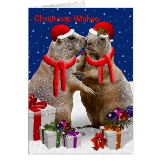 Um cartão do beijo do Natal