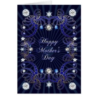 Um cartão do dia das mães com diamantes