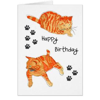 Um cartão do feliz aniversario