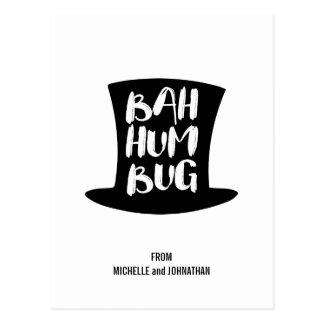 Um cartão do feriado da farsa de Bah da canção de