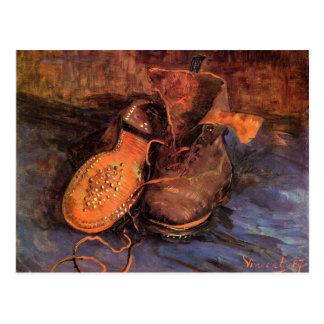 """Um cartão do par de sapatos de Van Gogh """" Cartão Postal"""