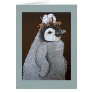 Um cartão do sul fino do feriado do pinguim