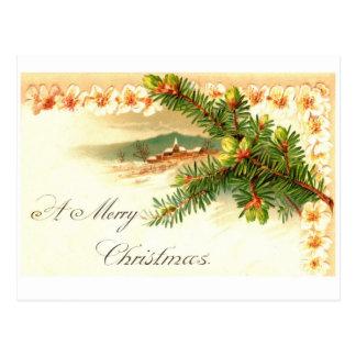 Um cartão do vintage do Feliz Natal