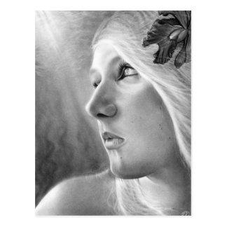 Um cartão escuro da sereia da tendência