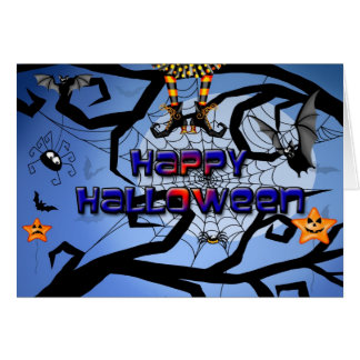 Um cartão feliz do Dia das Bruxas do divertimento