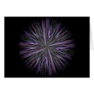 um cartão floral da mandala para centrar-se