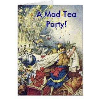 Um cartão louco do tea party