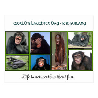 Um cartão para o dia do riso do mundo