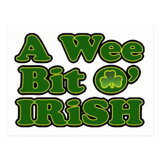 Um cartão pequenino do irlandês do bocado O