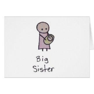 Um cartão pequeno da irmã mais velha