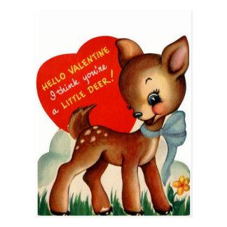 Um cartão pequeno dos namorados   do vintage dos