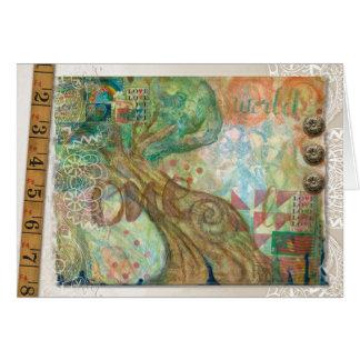 Um cartão vazio da colagem do mundo