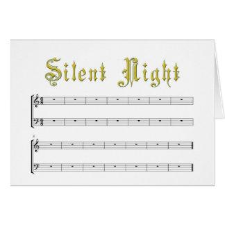 Um cartão vazio da noite realmente silenciosa