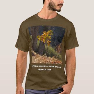 Um carvalho pequeno crescerá em uma camisa