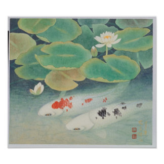 Um casal sob o quadro de Lotus Pôsteres