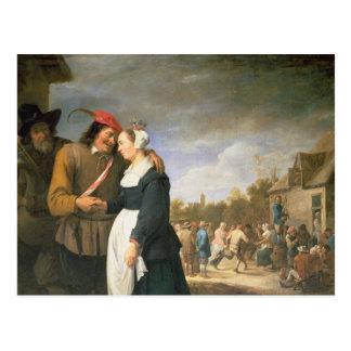 Um casamento do camponês, 1648 cartão postal