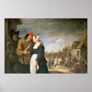 Um casamento do camponês, 1648 posters