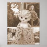 Um caso da boneca do vintage poster