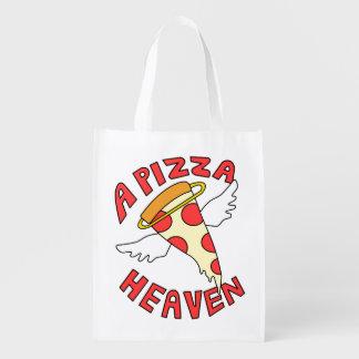 Um céu da pizza sacola ecológica