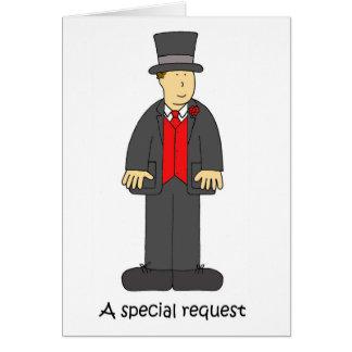 Um chapéu alto especial e caudas do pedido cartão comemorativo