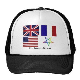 Um chapéu verdadeiro da religião boné