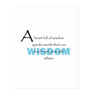 Um cheio do coração da sabedoria cartão postal