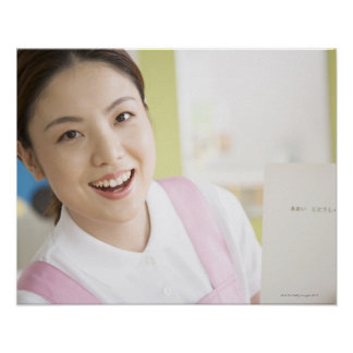 Um childminder de sorriso poster