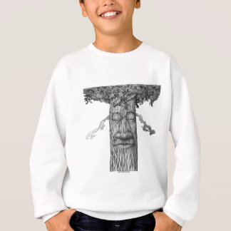 Um cobrir poderoso B&W da árvore Agasalho