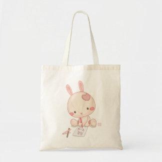 Um coelho que tira um coelho sacola tote budget