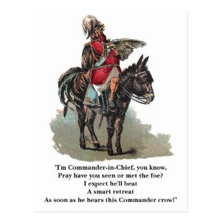 Um comandante-chefe de Clucky Cartão Postal