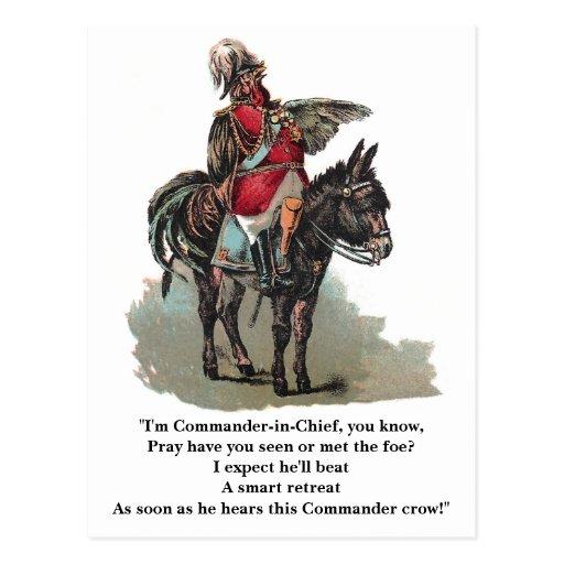 Um comandante-chefe de Clucky Cartao Postal