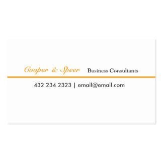 Um consultor empresarial mínimo original do curso cartão de visita