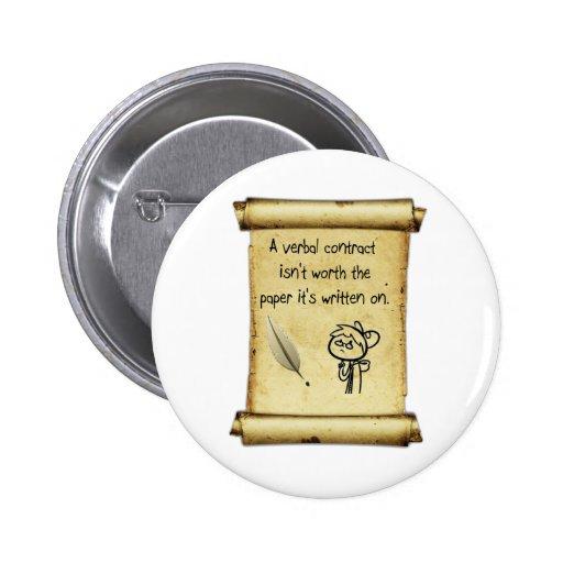 Um contrato verbal não é valor o papel que é writt botons