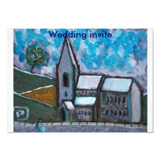 Um convite de casamento velho fino da igreja
