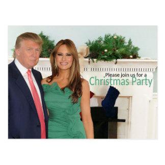 Um convite do Natal de Donald e de Melania